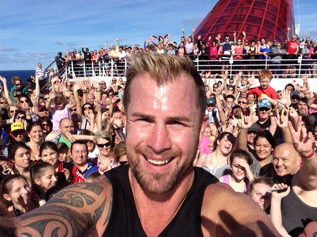 Shannan Ponton on Carnival Spirit - Biggest Selfie at Sea