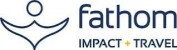 Fathom impact and travel logo